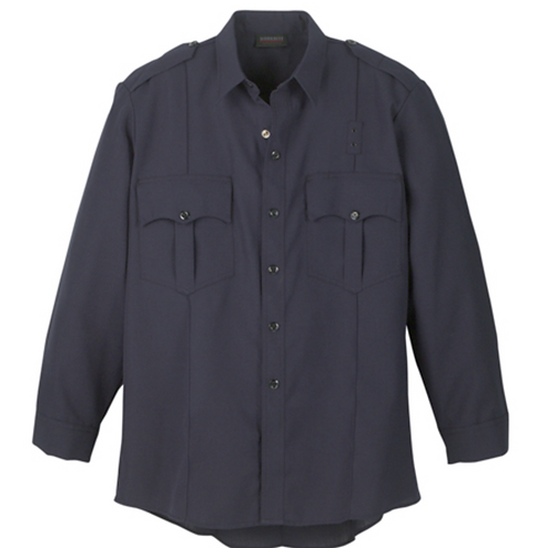 Workrite Long Sleeve Navy Button up