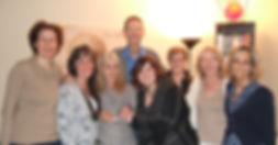 Serge Ritzenthaler et les élèves de la formation en sophrologie de l'école happy