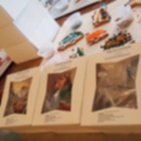 Cookie Dec Kit boxes w cookies dispalyed