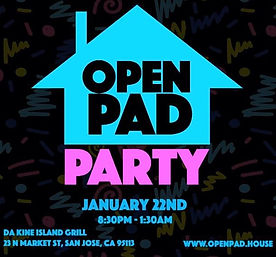 House Party, Events, Eventbrite, Open Pad, Da Kine Island Grill, Function, Bay Area Events