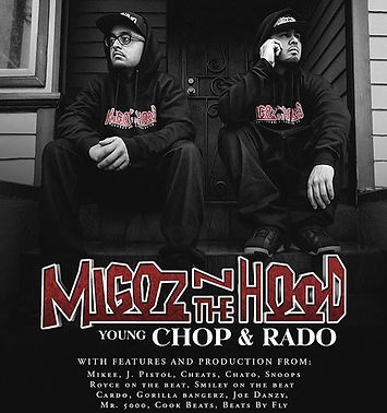 Oakland Sideshow, Oakland Latinos, Hyphy, Migoz n The Hood, Young Chop, Rado, Stewy Films