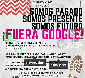 Google Plex, Silicon Valley Community Events, Debug, Musical Performance, March, Protest, Human Rights,