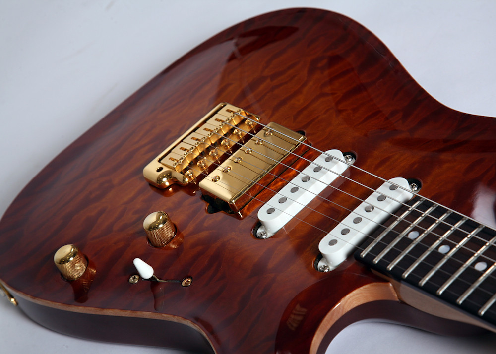 S type carved top custom electric guitar