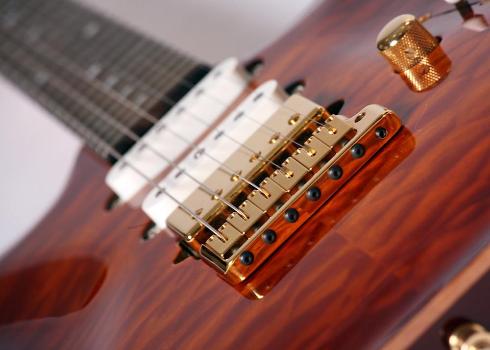 S type carved top custom guitar