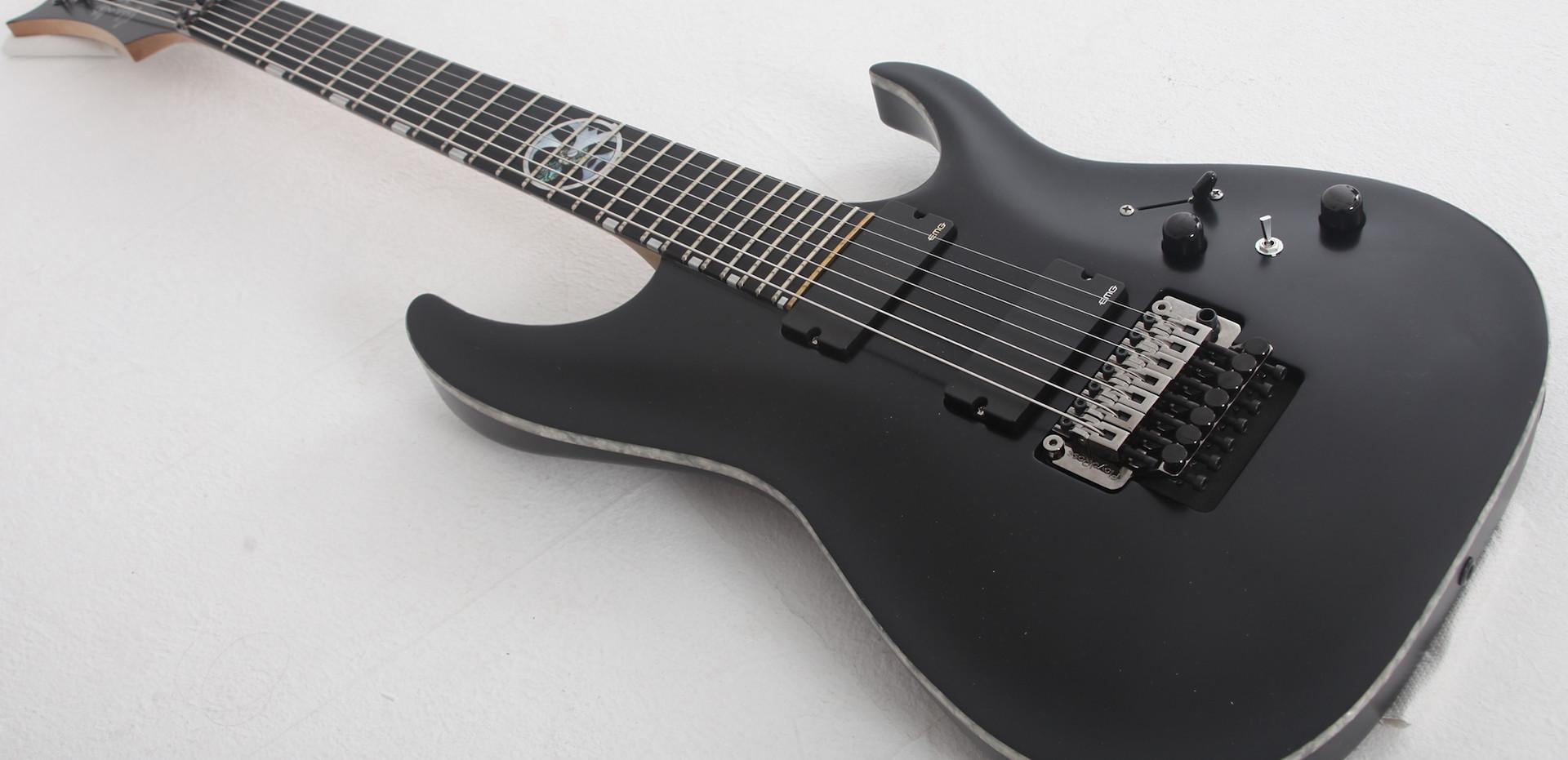 seven string custom electric guitar