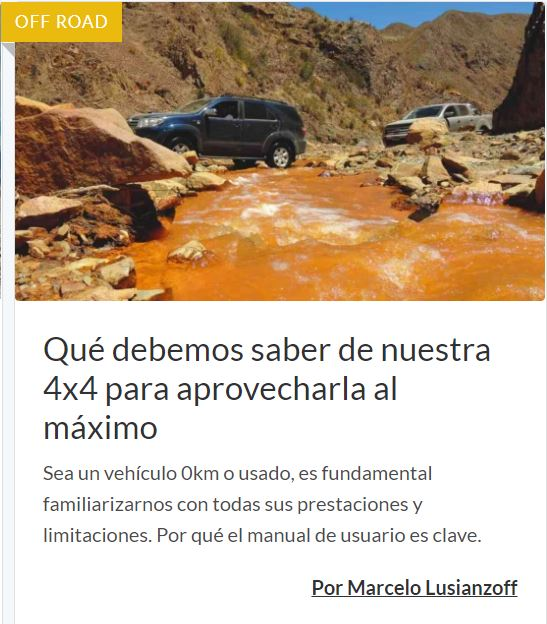 Aprovechar nuestra 4x4