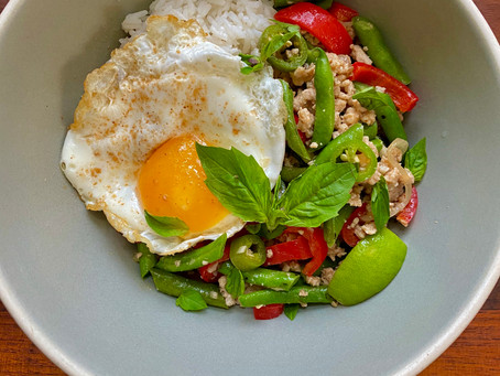 Induction Recipe: Thai Basil Chicken with Green Beans