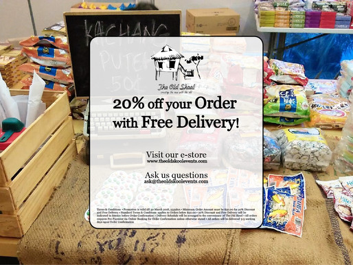 20% off your Order with Free Delivery!