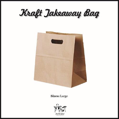 Kraft Takeaway Bag | Packaging | The Old Skool SG