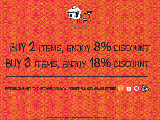 #TheOldSkoolDEAL | Chinese New Year 8% - 18% Discount