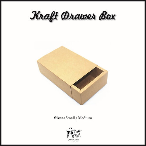 Kraft Drawer Box | Packaging | The Old Skool SG