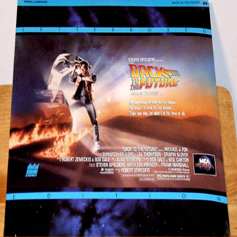 Back To The Future Laser Disc