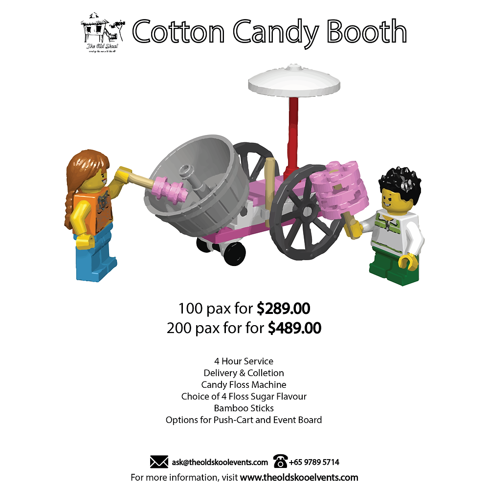 The Old Skool Cotton Candy Booth