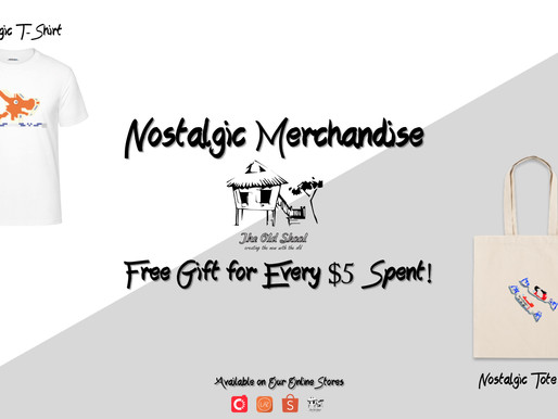 #TheOldSkoolDEAL | Nostalgic Merchandise On Sale Now!