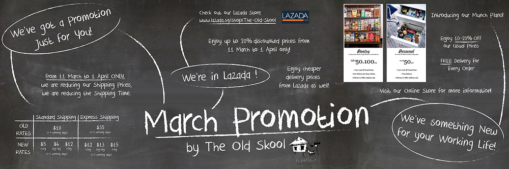March Promotion by The Old Skool
