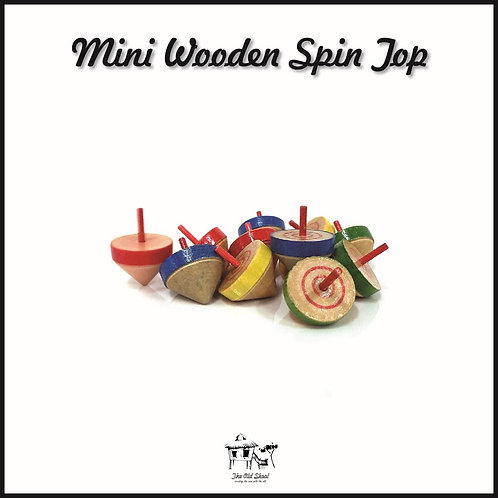 Mini Wooden Spin Top | Toys | The Old Skool SG