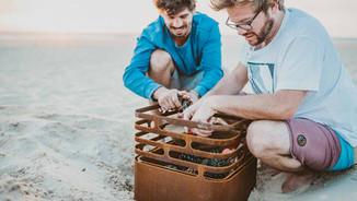 CUBE Fire Basket - Rusty