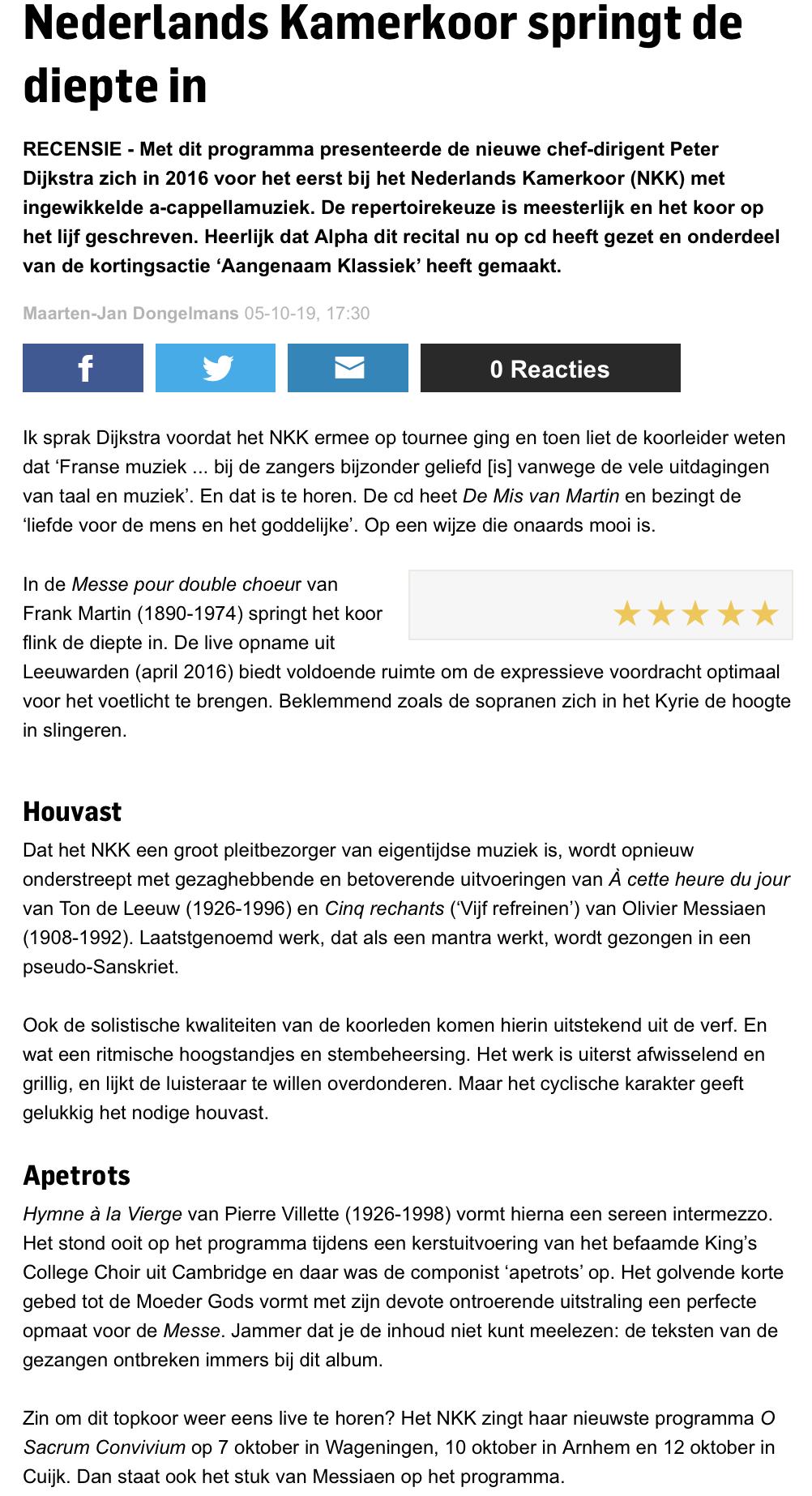 2019-10-05 De Gelderlander - NKK (cd rev