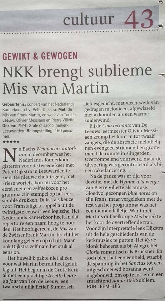 2016-04-30 - Leeuwarder courant -NKK