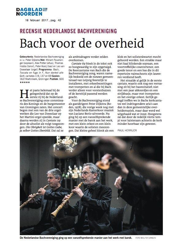 2017-02-16 - Dagblad vh Noorden -NBV
