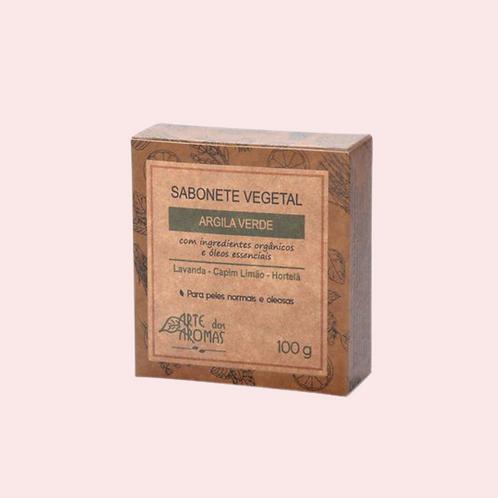 Sabonete em barra de Argila Verde - Arte Dos Aromas