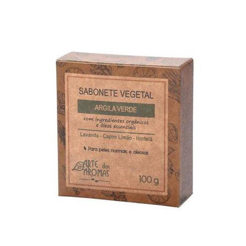 Sabonete Argila Verde em barra Arte Dos Aromas