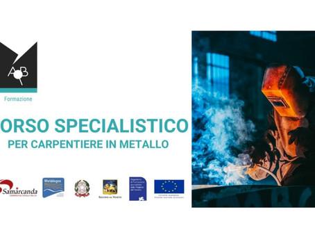 """Percorso gratuito """"Carpentiere in metallo"""" per disoccupati over 30"""