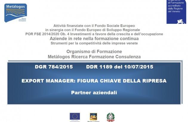 Milano Finanza da' spazio al percorso formativo di Export manager finanziato dalla Regione Ven