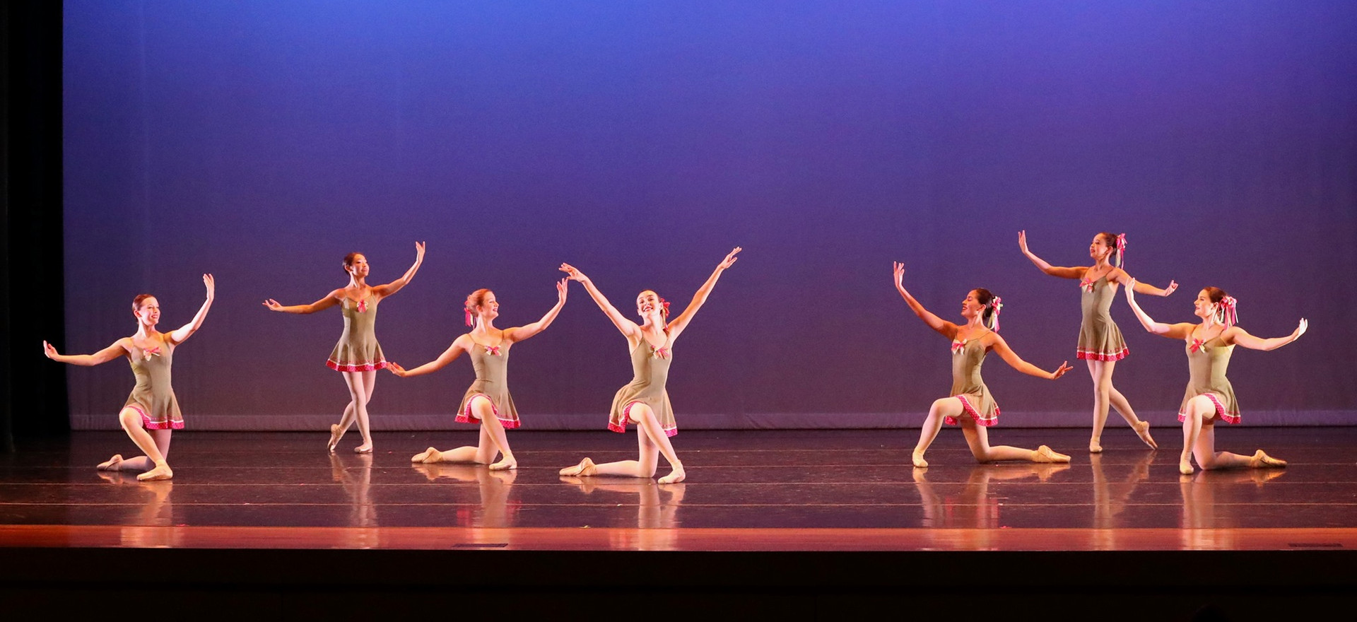 Caprice, choreographed in 1996 by director Kelly Lannin. This light and refreshing piece is set to the music of American composer William Walton.