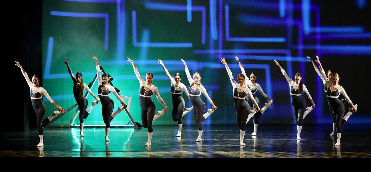 Ex-Virtual - Adrian Aguire, choreographed this piece prior to Covid-19, which lead to LBT primarily rehearsing this piece virtually.