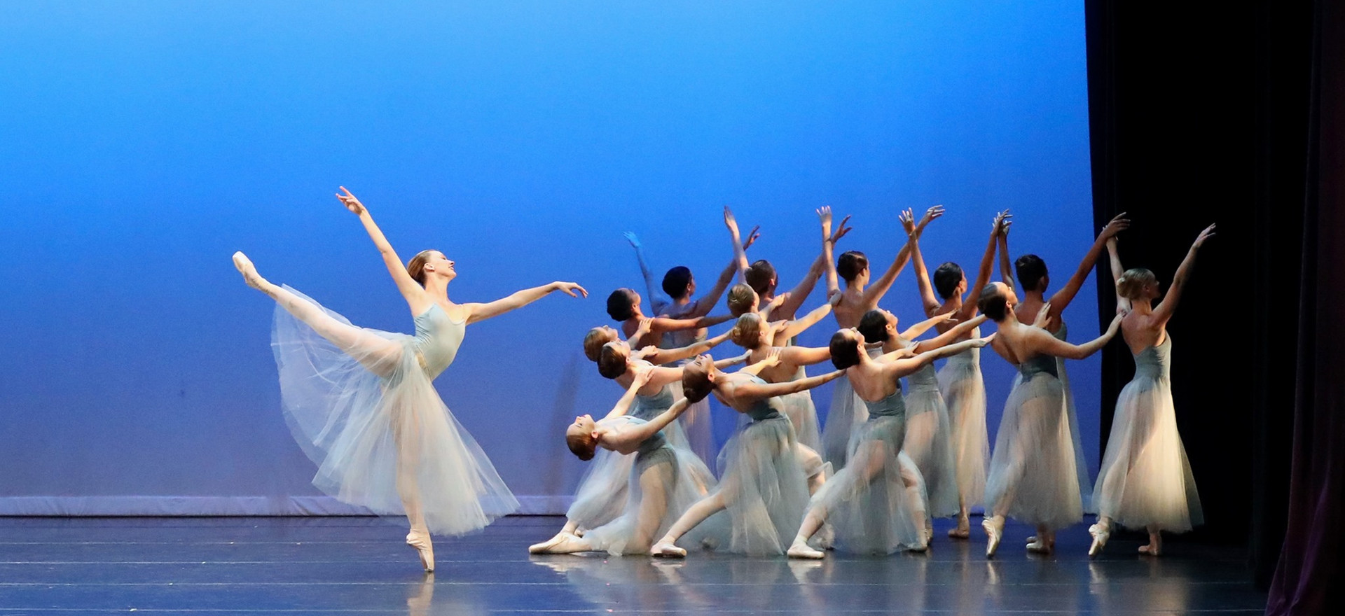 """Serenade"" Choreography by George Balanchine (c) The George Balanchine Trust Performed with Permission, by LakeCities Ballet Theatre"