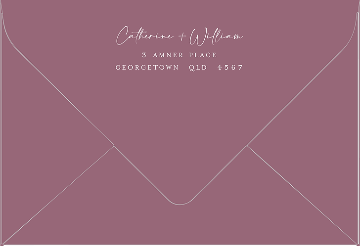 Catherine Printed Envelope