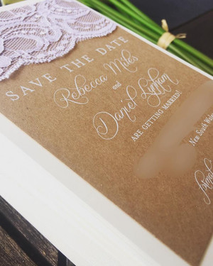 Paper Love Invites | Rustic Lace Save the Dates