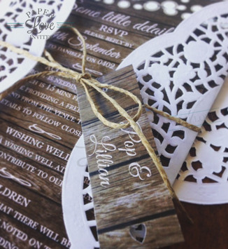 Paper Love Invites   Rustic doily string of lights invitation suite
