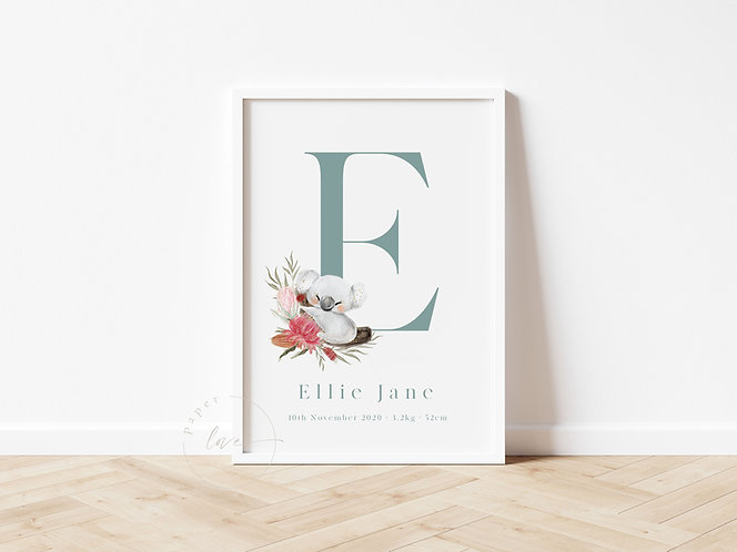 Australiana Birth Print | Ellie