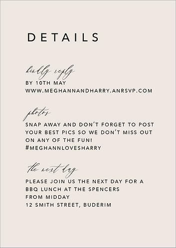 Meghann Details Card