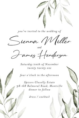 Sienna Invitation
