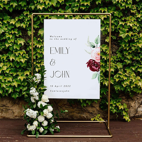 Emily Welcome Sign
