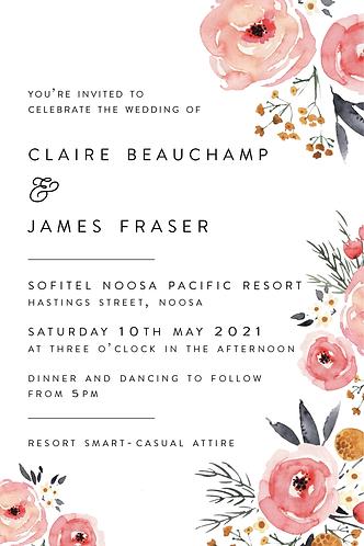 Claire Invitation