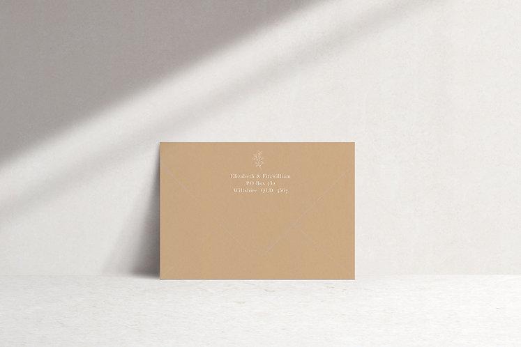 Elizabeth Printed Envelope