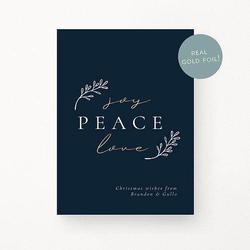Christmas Cards | Peace, Love, Joy