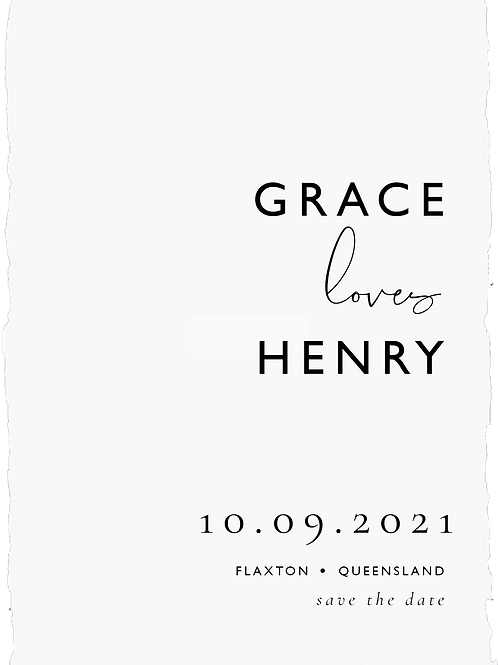 Save the Date | Grace