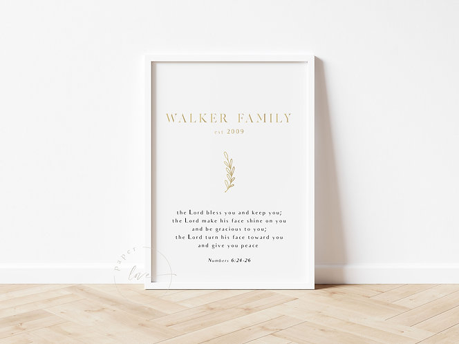 Inspired Prints   Personalised   Blessing