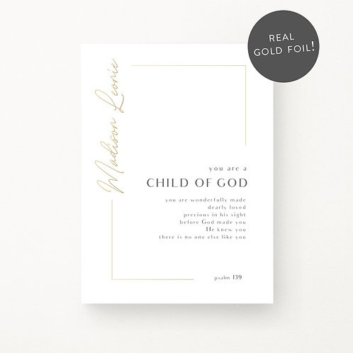 Inspired Prints | Personalised | Child of God