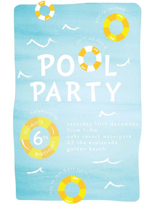 Kids Birthday Invitations | Pool Party