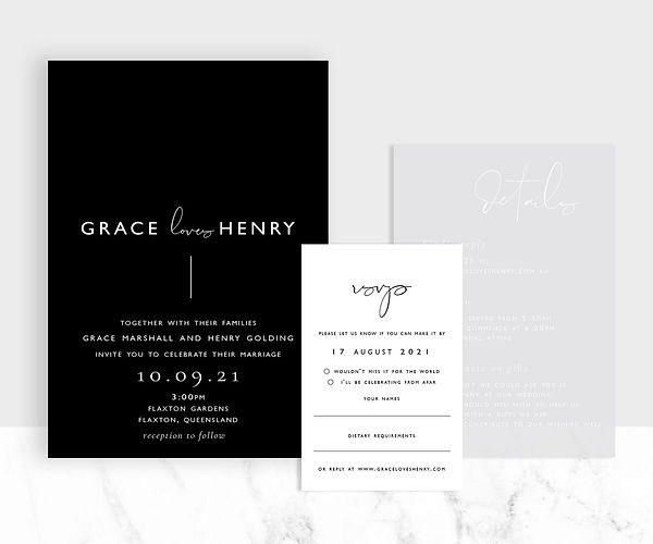 Grace gallery 3 card mockup weddings cop
