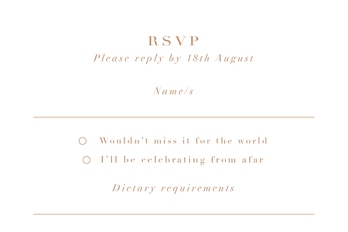 Elizabeth RSVP Card