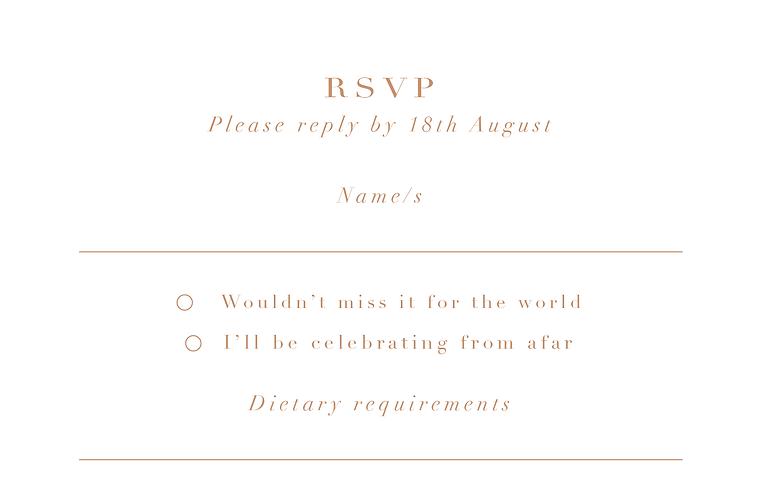 Elizabeth RSVP Card + Envelope