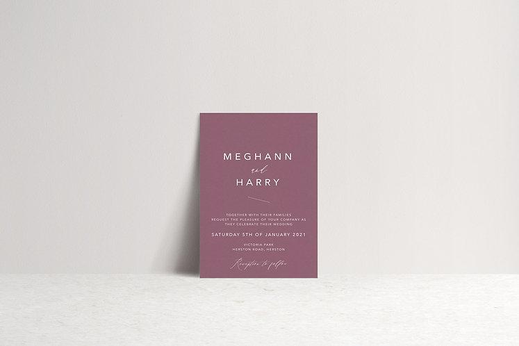 Meghann Invitation