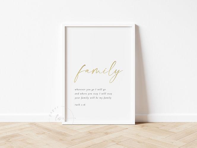 Inspired Prints | Family | Gold Foil